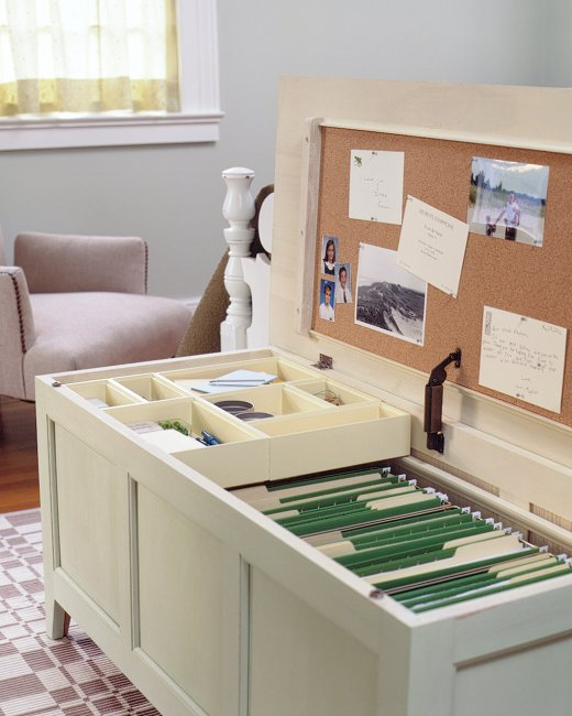 Unusual Furniture Hacks A Storage Chest Turned Into Mini Office Perfect For Small Es Doubles As Extra Seating